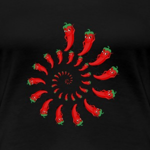 Red Pepper Diva Spiral - Women's Premium T-Shirt