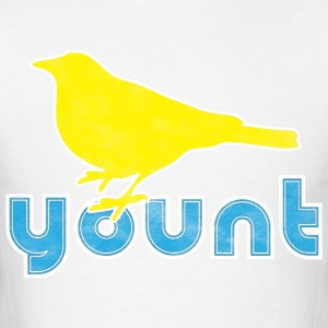 A robin on a Yount Baseball T-Shirts - Men's T-Shirt