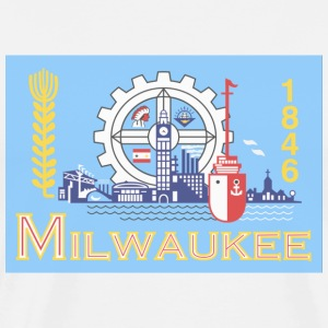 Milwaukee City Flag T-Shirts - Men's Premium T-Shirt