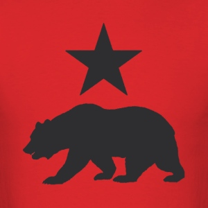 California Republic Grizzly Bear Shirt - Men's T-Shirt