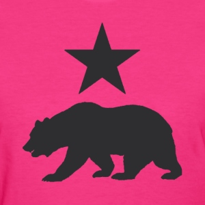 California Republic Grizzly Bear Ladies Shirt - Women's T-Shirt