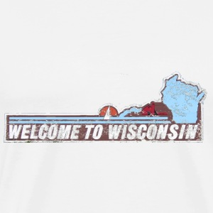 Classic Welcome to Wisconsin T-Shirts - Men's Premium T-Shirt