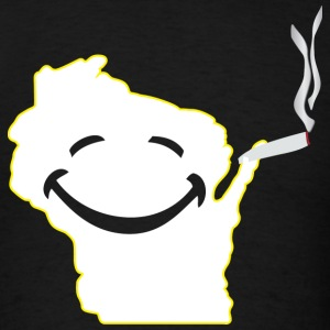 Happy Weed Wisconsin T-Shirts - Men's T-Shirt