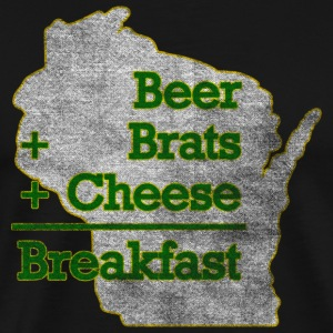 Wisconsin Beer Brats Cheese Funny T-Shirts - Men's Premium T-Shirt