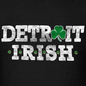 Old Vintage Detroit Irish St. Patrick's Day T-Shirts - Men's T-Shirt