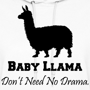 Baby Llama Don't Need No Drama Hoodies - Women's Hoodie