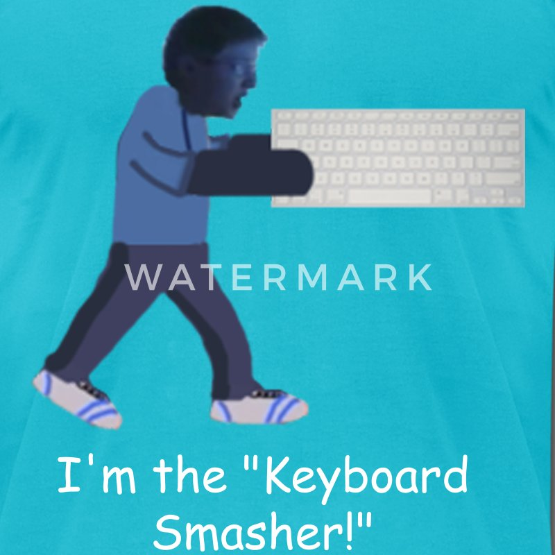 Keyboard Smasher Kid T-Shirt - Men's T-Shirt by American Apparel