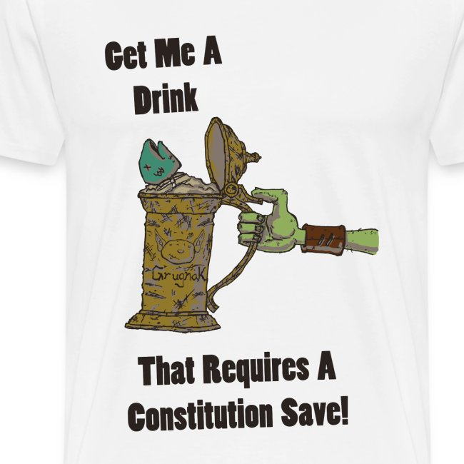Nerdarchy Get Me A Drink Men's Premium T-Shirt