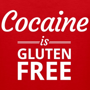 Cocaine is Gluten Free Tank Tops - Men's Premium Tank