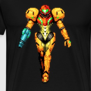 Metroid pixel aart - Men's Premium T-Shirt