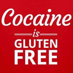 Cocaine is Gluten Free Tank Tops