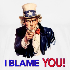 I Blame You - Retro Uncle Sam Pointing T-Shirts - Men's Premium T-Shirt