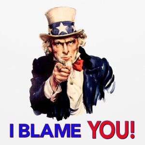 I Blame You - Retro Uncle Sam Pointing Other - Mouse pad Horizontal