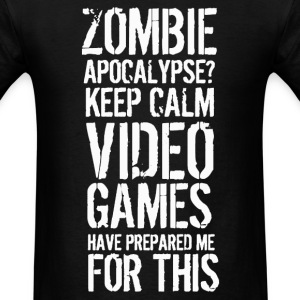 Zombie apocalypse gamer shirt - Men's T-Shirt