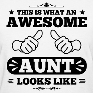 Awesome Aunt Looks Like Women's T-Shirts - Women's T-Shirt