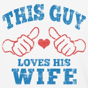 This Guy Loves His Wife T-Shirts - Baseball T-Shirt