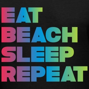 EAT BEACH SLEEP REPEAT Women's T-Shirts - Women's V-Neck T-Shirt