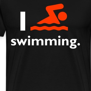 I Love Swimming - Men's Premium T-Shirt