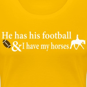 Quarter Horse - He has his football Women's T-Shirts - Women's Premium T-Shirt