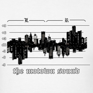 Motown Detroit Skyline Sound T-Shirts - Men's T-Shirt