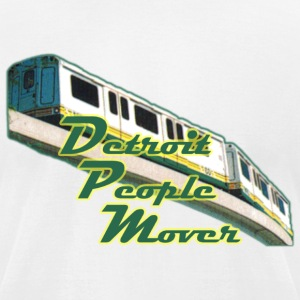 Detroit People Mover Old School T-Shirts - Men's T-Shirt by American Apparel