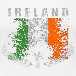 Vintage Irish Ireland Distressed Flag Women's T-Shirts - Women's Premium T-Shirt