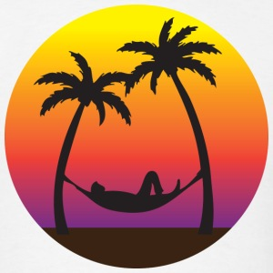 Beach Hammock Sunset Vacation  T-Shirts - Men's T-Shirt