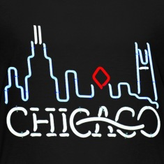 Neon Chicago Sign Kids' Shirts