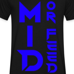 Mid Or Feed - Men's V-Neck T-Shirt by Canvas