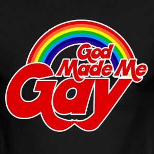 God made me gay - Men's Ringer T-Shirt