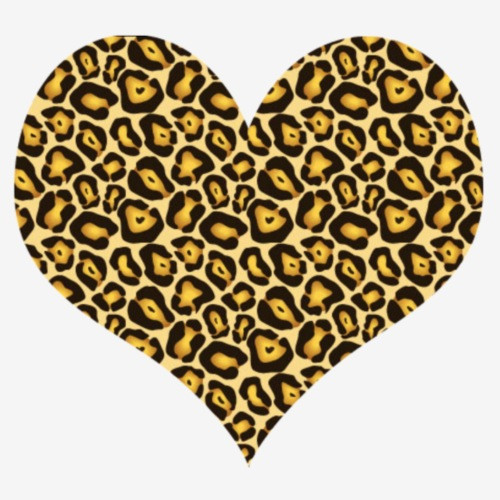 leopard print love heart