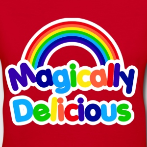 Magically delicious retro rainbow - Women's V-Neck T-Shirt