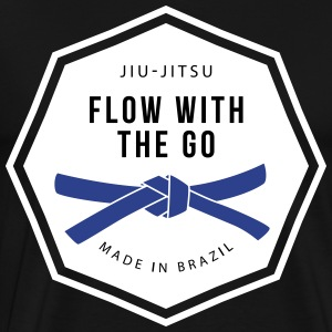 BJJ Flow with the Go T-Shirt - Blue - Men's Premium T-Shirt