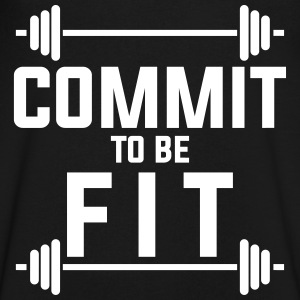 Commit to be fit T-Shirts - Men's V-Neck T-Shirt by Canvas