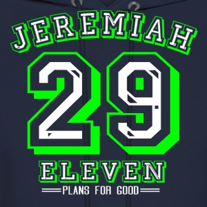 Jeremiah 29:11 Green/White Design - Men's Hoodie