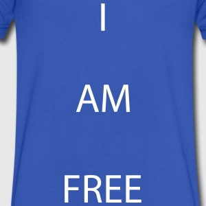I AM FREE T-Shirts - Men's V-Neck T-Shirt by Canvas