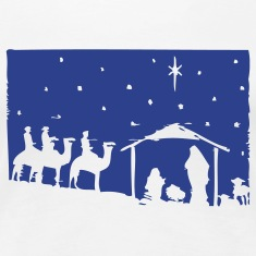 Jesus Christmas Nativity Scene Women's T-Shirts