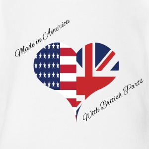 Made in America with British Parts Baby & Toddler Shirts - Short Sleeve Baby Bodysuit