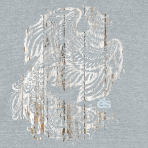 white peacock - Unisex Tri-Blend T-Shirt by American Apparel