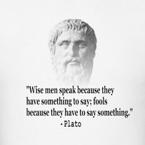 Quote By Plato - Men's T-Shirt