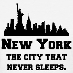 New York (NYC) The City That Never Sleeps. Women's T-Shirts