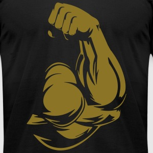 bicep bodybuilding T-Shirts - Men's T-Shirt by American Apparel