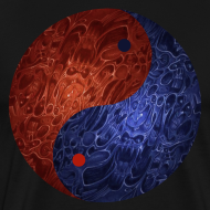 Design ~ Blue Red Demon Yin Yang Shirt