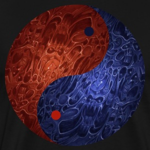 Blue Red Demon Yin Yang Shirt - Men's Premium T-Shirt