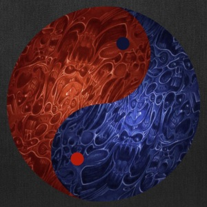 Blue Red Demon Yin Yang Tote Bag - Tote Bag