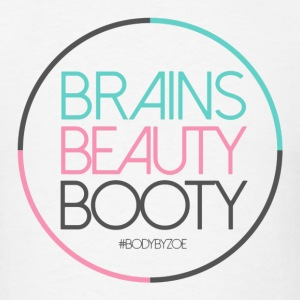 Brains Beauty Booty - Men's T-Shirt