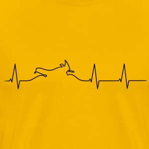 Motorcycle Adventure heartbeat Shirt - Men's Premium T-Shirt