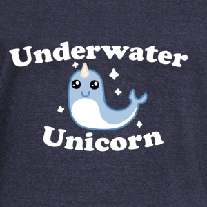 Underwater Unicorn Shirt! - Women's Wideneck Sweatshirt