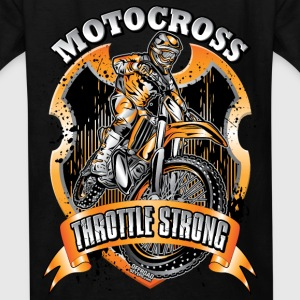 Moto Throttle Strong Org Kids' Shirts - Kids' T-Shirt