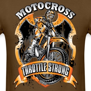 Moto Throttle Strong Org T-Shirts - Men's T-Shirt